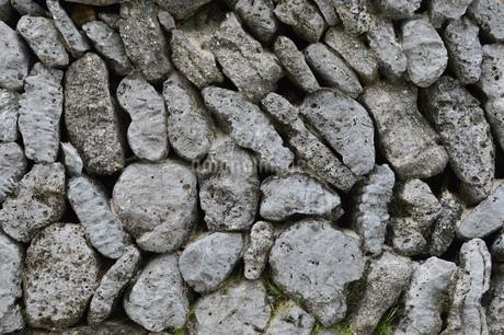 石垣の石壁の写真素材 [FYI01260452]