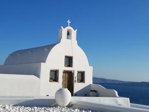 サントリーニ島 イアの教会 santorini oiaの写真素材 [FYI01260460]