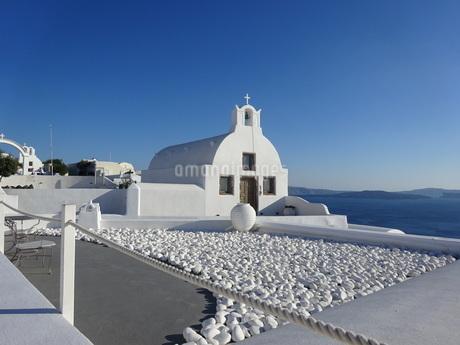 サントリーニ島 イアの教会 santorini oiaの写真素材 [FYI01260465]