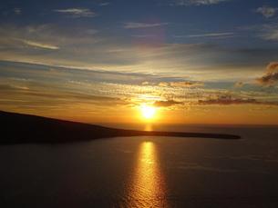 サントリーニ島 イアの夕陽 santorini oiaの写真素材 [FYI01260468]