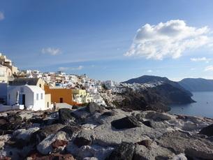 サントリーニ島 イアの景色 santorini oiaの写真素材 [FYI01260470]