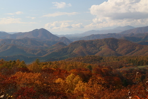 山々の紅葉の写真素材 [FYI01260548]