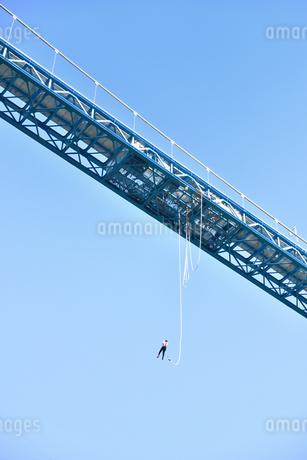 竜神大吊橋のバンジージャンプの写真素材 [FYI01260561]