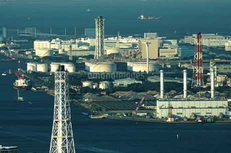 ランドマークタワーからの見る京浜工業地帯の写真素材 [FYI01260608]