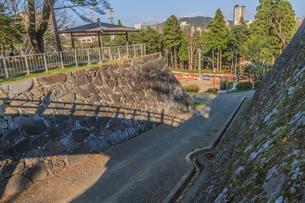 春の盛岡城の風景の写真素材 [FYI01261000]
