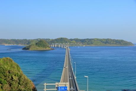 早朝の角島大橋の写真素材 [FYI01261131]