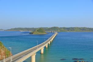早朝の角島大橋の写真素材 [FYI01261132]