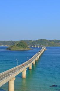 早朝の角島大橋の写真素材 [FYI01261134]