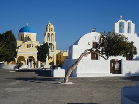 サントリーニ島 イアの街 santorini oiaの写真素材 [FYI01261323]