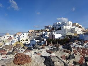サントリーニ島 イアの風景 santorini oiaの写真素材 [FYI01261326]