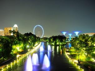 シンガポール 夜景の写真素材 [FYI01261342]