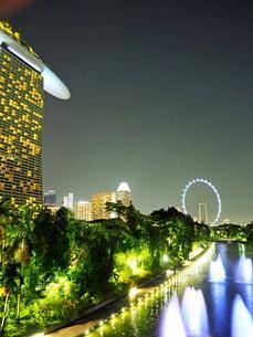 シンガポール 夜景の写真素材 [FYI01261343]