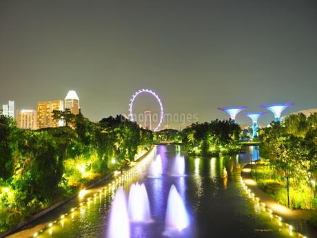 シンガポール 夜景の写真素材 [FYI01261344]