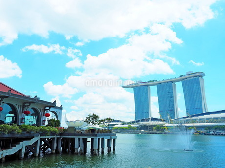 シンガポール マリーナベイサンズからの景色の写真素材 [FYI01261350]