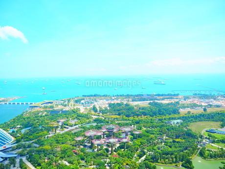 シンガポール マリーナベイサンズからの景色の写真素材 [FYI01261353]