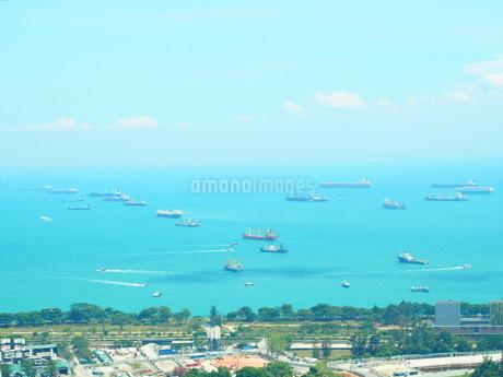 シンガポール マリーナベイサンズからの景色の写真素材 [FYI01261358]