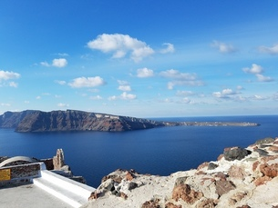 サントリーニ島 イアの風景 santorini oiaの写真素材 [FYI01261372]