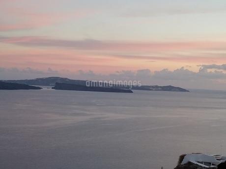 サントリーニ島 イアの夕暮れ santorini oiaの写真素材 [FYI01261378]