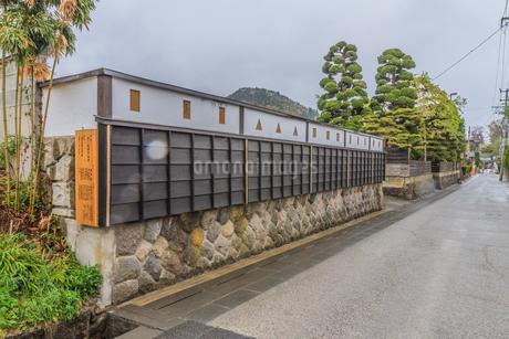 春の上山の武家屋敷通りの風景の写真素材 [FYI01261714]