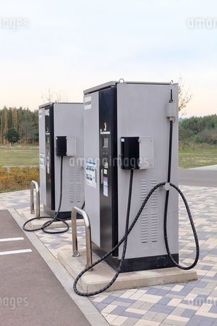 電気自動車用の充電スタンドの写真素材 [FYI01261983]