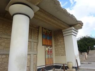 クレタ島 クノッソス宮殿 crete heraklionの写真素材 [FYI01262052]