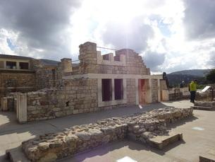 クレタ島 クノッソス宮殿 crete heraklionの写真素材 [FYI01262054]