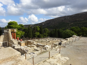 クレタ島 クノッソス宮殿 crete heraklionの写真素材 [FYI01262055]