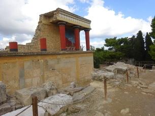 クレタ島 クノッソス宮殿 crete heraklionの写真素材 [FYI01262058]