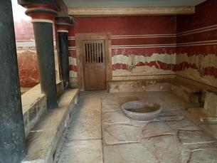 クレタ島 クノッソス宮殿 crete heraklionの写真素材 [FYI01262432]