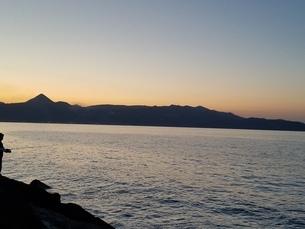 クレタ島 イラクリオンの夕暮れ crete heraklionの写真素材 [FYI01262510]