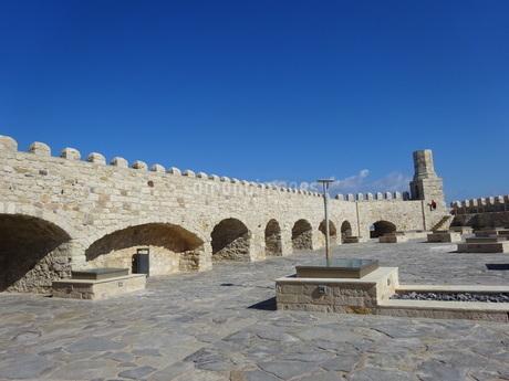 クレタ島 イラクリオンの要塞 crete heraklionの写真素材 [FYI01262535]