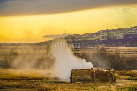 アイスランドの朝焼けの写真素材 [FYI01262716]