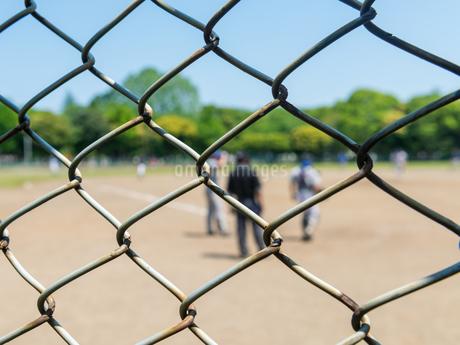野球とバックネットの写真素材 [FYI01263031]