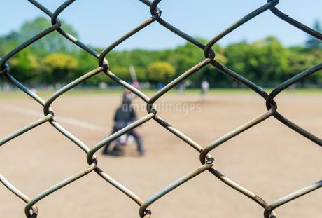 野球とバックネットの写真素材 [FYI01263032]