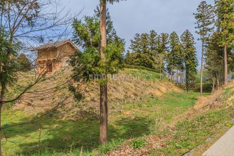 春の箕輪城の風景の写真素材 [FYI01263152]