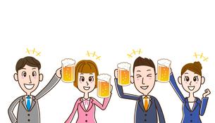 ビールで乾杯 サラリーマンたちのイラスト素材 [FYI01263352]