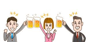 サラリーマン ビールで乾杯のイラスト素材 [FYI01263355]