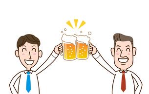 サラリーマン ビールで乾杯のイラスト素材 [FYI01263357]