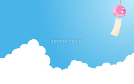 夏の入道雲 風鈴のイラスト素材 [FYI01263498]