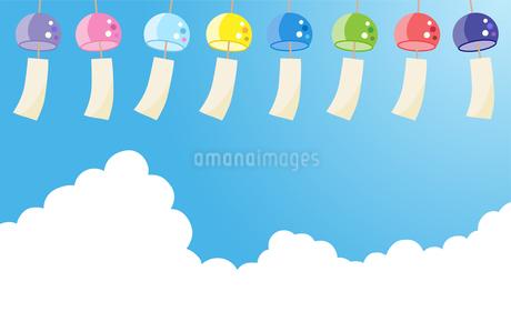 夏の入道雲 風鈴のイラスト素材 [FYI01263499]