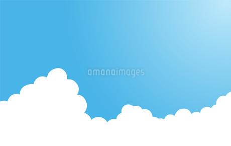 夏の入道雲 背景素材のイラスト素材 [FYI01263501]