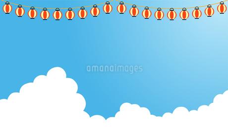 夏の入道雲 提灯のイラスト素材 [FYI01263502]