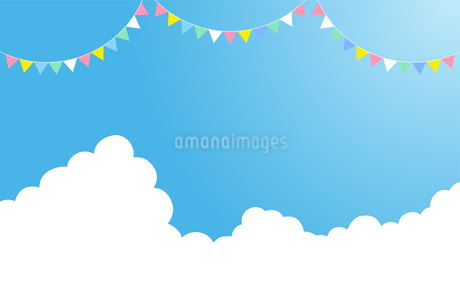 夏の入道雲 飾りのイラスト素材 [FYI01263508]