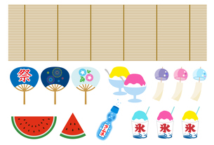 日本の夏のアイコンのイラスト素材 [FYI01263545]