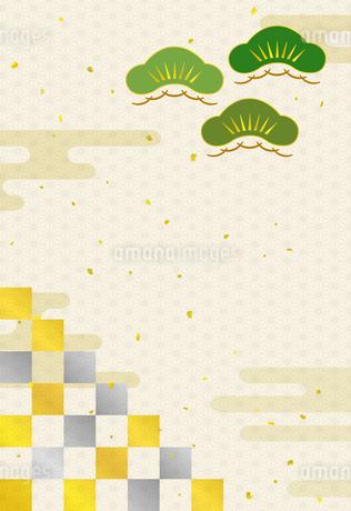松と雲 和風背景のイラスト素材 [FYI01263758]