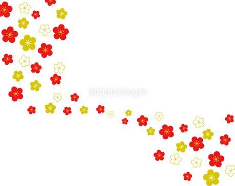 梅 和風背景素材のイラスト素材 [FYI01263763]