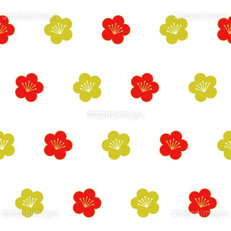 梅柄 シームレスパターンのイラスト素材 [FYI01263771]