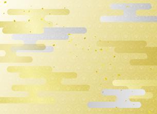 雲と金箔の背景のイラスト素材 [FYI01263792]