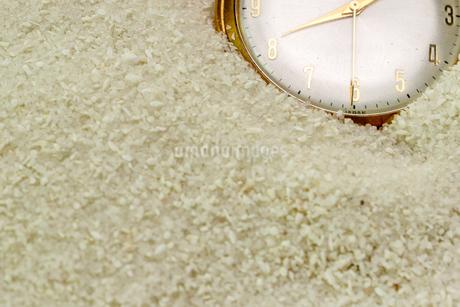 砂に埋もれる懐中時計の写真素材 [FYI01263884]
