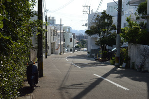 日本の沖縄の裏通りの写真素材 [FYI01263981]